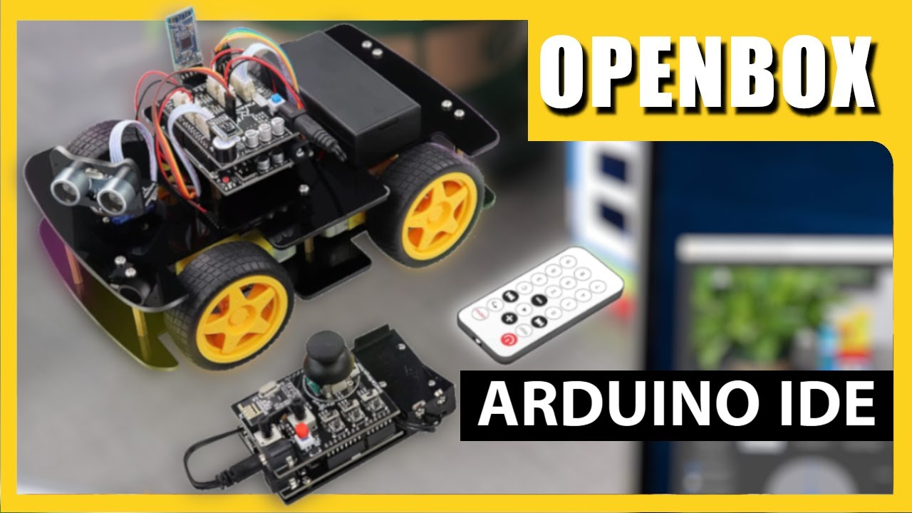 Arduino obstacle avoiding Robot Car with RF Remote   OPENBOX