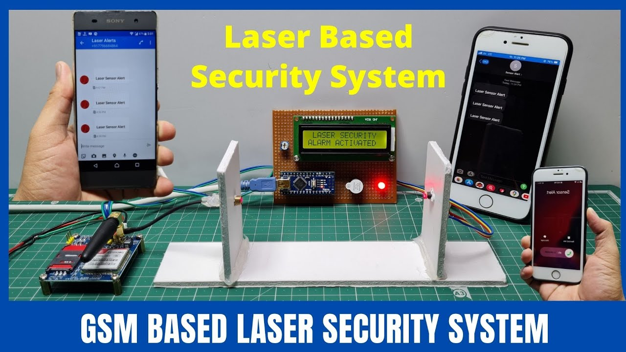 Arduino and Gsm based laser security system | Home security system